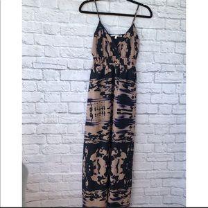 Collective concepts watercolor maxi dress